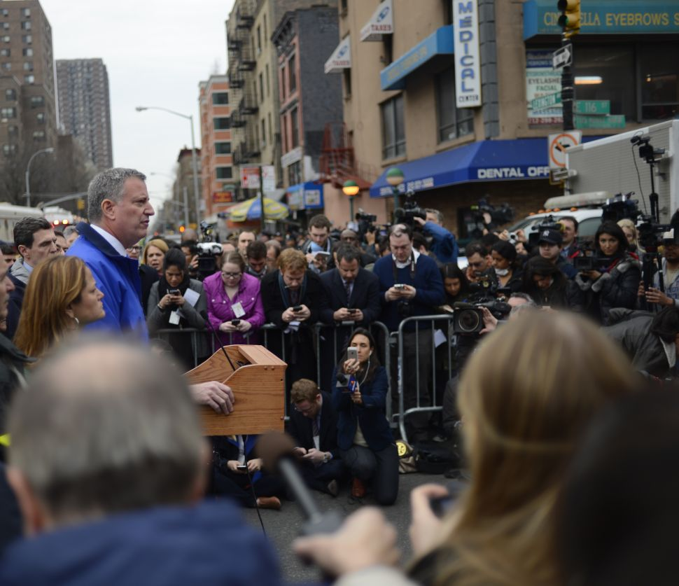 De Blasio Says He Has No Regrets About Agency Staffing After East Harlem Explosion