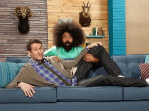 Scott Aukerman and Reggie Watts bring back Comedy Bang! Bang! on the IFC upfronts.