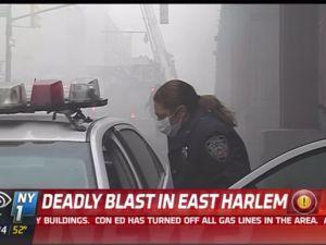 A deadly blast rocked East Harlem this morning. (Photo: NY1)