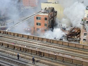 The scene in East Harlem. (Photo: Rob Bennett/NYC Mayor's Office)
