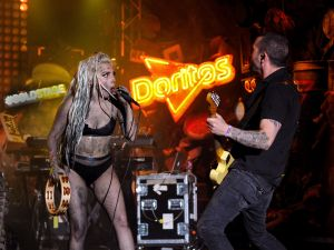 Lady Gaga promotes Doritos, or vice versa. (Photo via Getty Images)