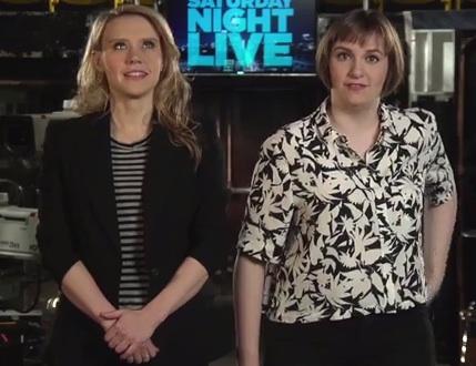 Lena Dunham Calls Kate McKinnon a Slut Witch on New <em>Saturday Night Live</em> Promos (Video)