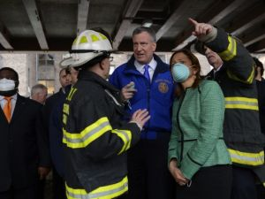 Speaker Melissa Mark-Viverito at the scene of the East Harlem Building Collapse. (Photo: Rob Bennett for the Office of Mayor Bill de Blasio)
