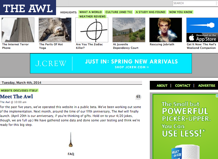The Awl Announces Changes in The Most Awl-ish Way Possible
