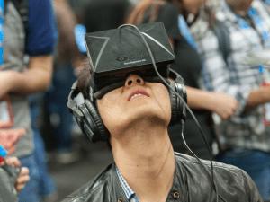 Lost in Oculus Rift at GDC 2014 (photo via GDV, CC BY 2.0)