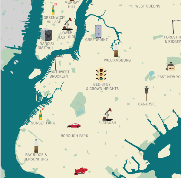 Here Here: Interactive Map Lets You Know Exactly What New Yorkers Are Complaining About