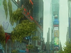 We never thought Times Square would look this...green. (Photo via Urban Jungle Street View/Google).