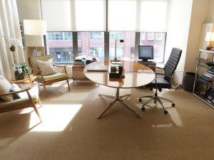 PR executive Paul Wilmot's office.