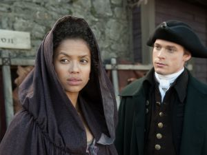 Gugu Mbatha-Raw and Matthew Goode in Belle.