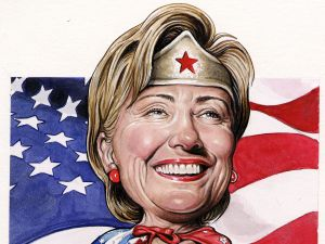 In the eyes of her strongest supporters, Hillary Clinton can do no wrong, even if she was for the prison industrial complex before she was against it. (Drew Friedman for the Observer)