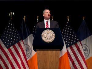 Mayor Bill de Blasio at his State of the City address. (Photo: NYC Mayor's Office)