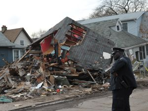 Hurricane Sandy wreckage on Staten Island. (Photo: Getty)