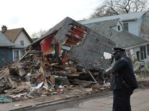 Hurricane Sandy wreckage on Staten Island. (Photo: Getty)