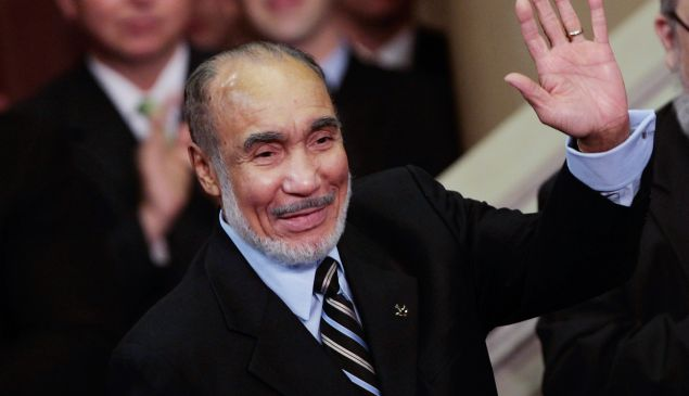 Basil Paterson at his son's swearing-in ceremony in 2008. (Photo: Chris Hondros/Getty Images)