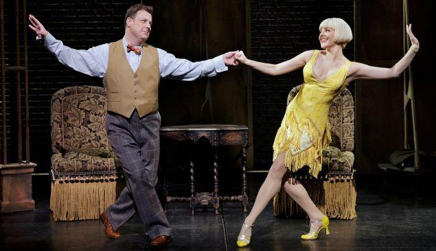 Brooks Ashmanskas and Heléne Yorke in <em>Bullets Over Broadway</em>.