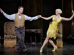 Brooks Ashmanskas and Heléne Yorke in <em>Bullets Over Broadway</em>.