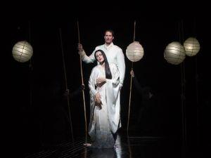 "Kristine Opolais as Cio-Cio-San and James Valenti as Pinkerton in Puccini's ""Madama Butterfly."" Photo: Marty Sohl/Metropolitan Opera"