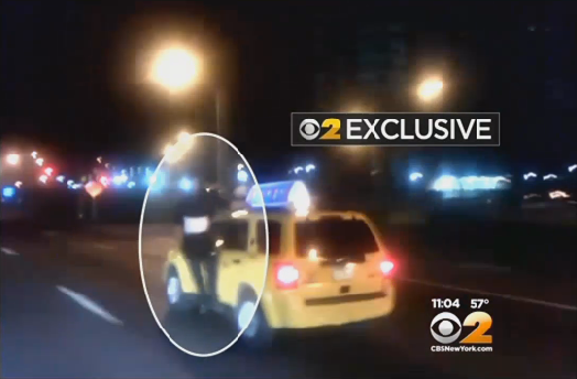 Unsuccessful Carjacker Gets Eight Mile, Al Fresco Taxi Ride of His Life
