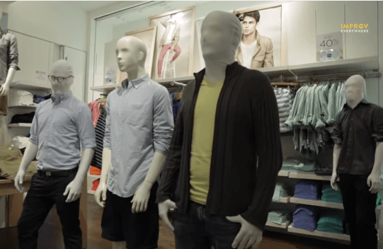 Working Stiff: Khakied Mannequin Flash Mob Takes Over Gap Flagship