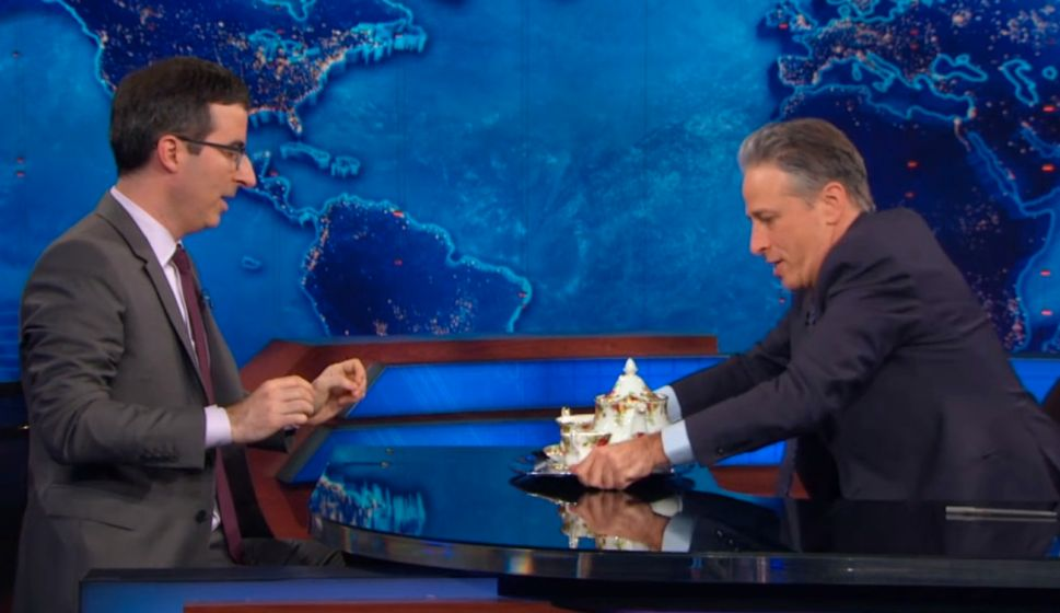 John Oliver Talks New Show With Jon Stewart (Video)