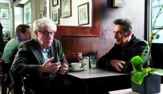 Woody Allen, left, and John Turturro in Fading Gigolo