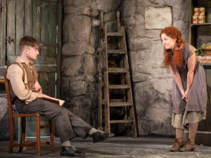 Daniel Radcliffe and Sarah Green in <em>The Cripple of Inishmaan</em>.