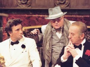 Peter Falk, Truman Capote and David Niven, from left. (Murder By Death)