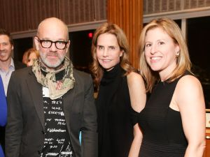 Michael Stipe, Katie Ford and Monica Winsor at the event.