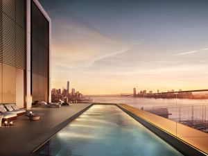 The penthouse roof pool is 61-feet long.