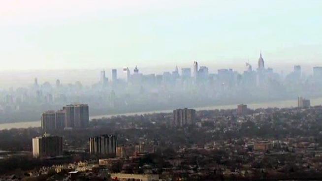 New Jersey Fire Stinks Up New York Skyline