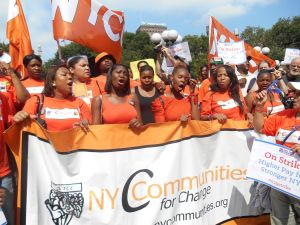 A New York Communities for Change rally
