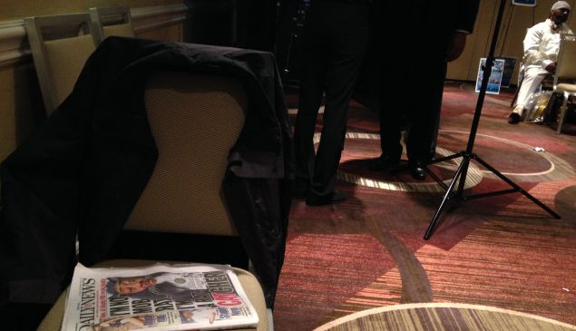Today's Daily News, with Rev. Al Sharpton on the cover, sits on a chair at the NAN convention. (Photo: Darren Sands)