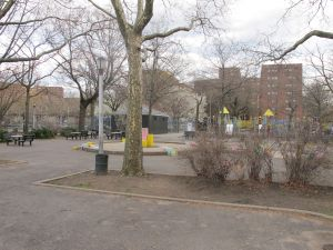 Linden Park, in East New York. (Photo by Matthew Taub)
