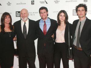 Michelle Reiner, Rob Reiner, Jake Reiner, Rony Reiner, Nick Reiner. (Courtesy Patrick McMullan)