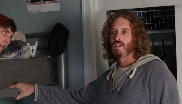 Mr. Miller, right, as Erlich Bachman. (Photo via HBO)