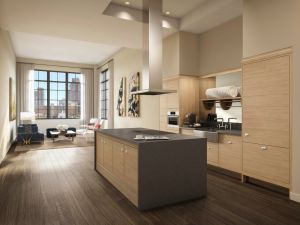A kitchen rendering.