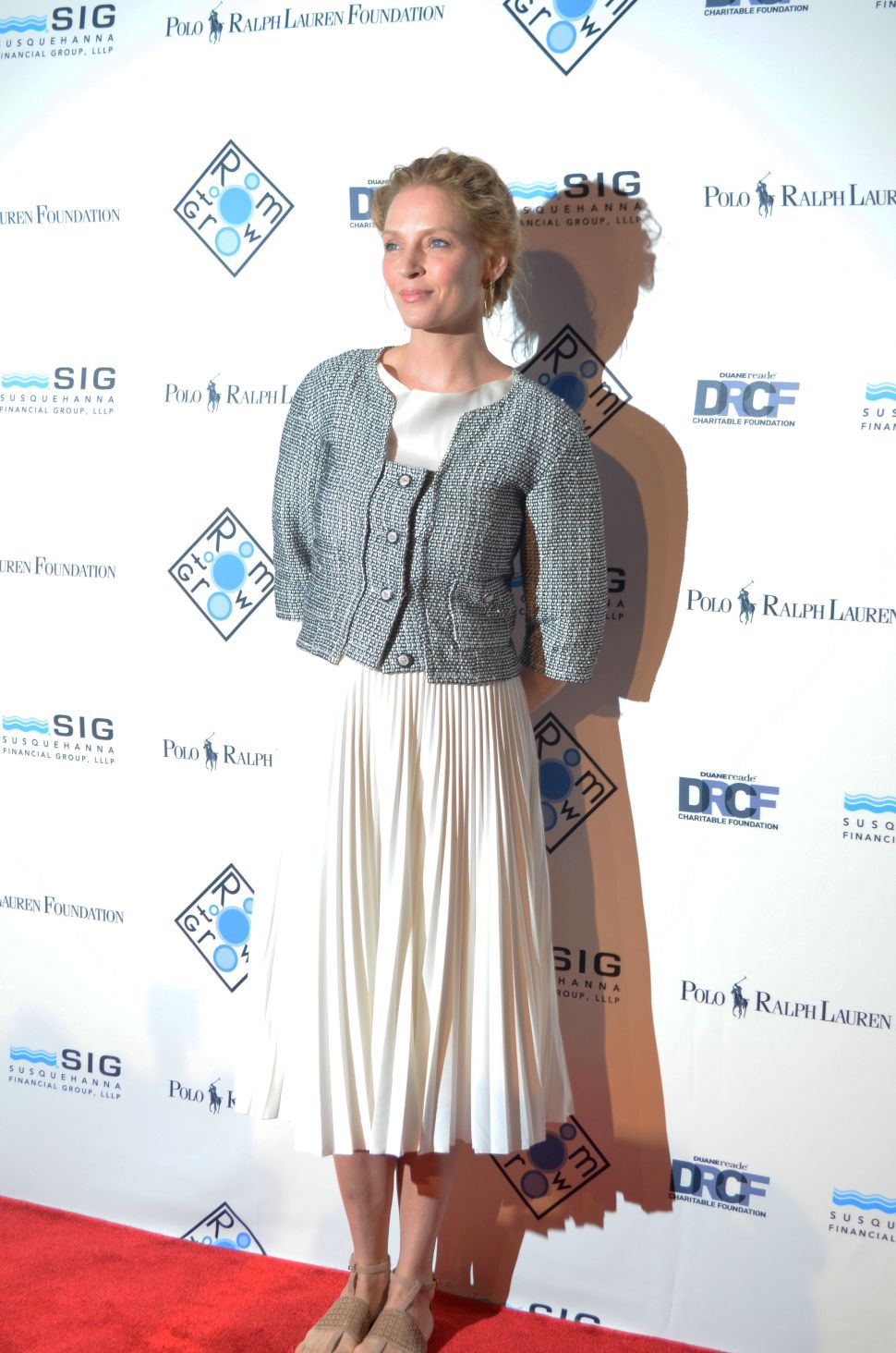 Heart and Sole: Uma Thurman's Shoes Raise Money at Room to Grow Spring Gala