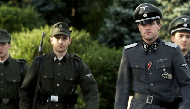 Jonas Armstrong, front, in Walking with the Enemy.