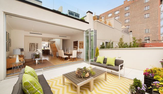 A portion of the 1,600 square feet of terrace space.