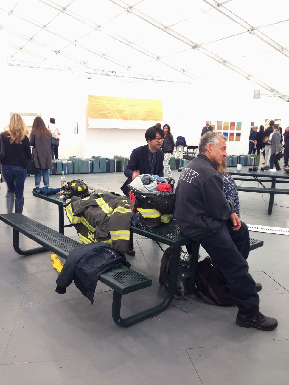 Stop, Drop and Roll: Fire Safety at Frieze New York