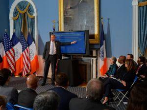 Mayor Bill de Blasio giving his Executive Budget address. (Photo: Rob Bennett/NYC Mayor's Office)