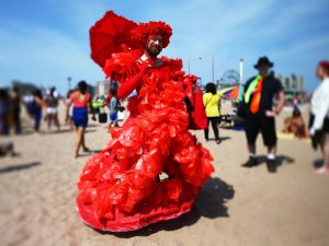 "A ""sea creature"" at the Coney Island Mermaid Parade. (Mario Tama/Getty Images)"