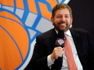 James Dolan, Executive Chairman of Madison Square Garden, was more than blunt with a fan earlier. (Photo: Maddie Meyer/Getty Images).