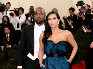 Kanye West and Kim Kardashian. (Getty Images)