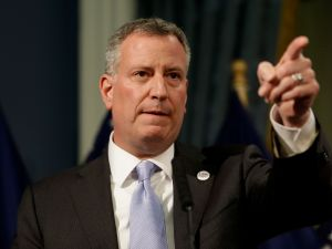 Mayor Bill de Blasio. (Photo: AP Photo/Seth Wenig, Pool)