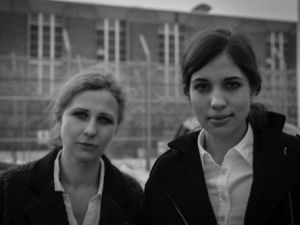 "Maria ""Masha"" Tolokonnikova and Nadezhda ""Nadya"" Alyokhina. (Courtesy Frieze New York)"