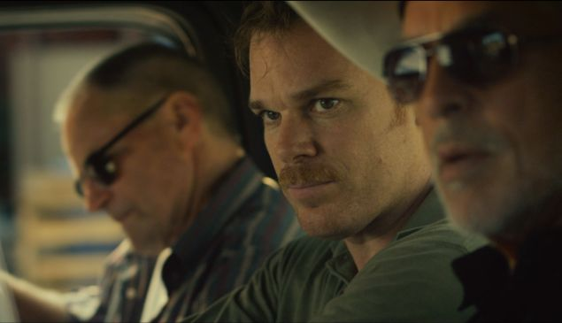 Sam Shepard, Michael C. Hall and Don Johnson, from left, in <em>Cold in July</em>.