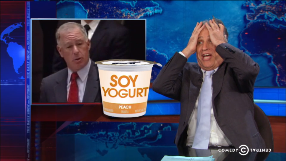 'Daily Show' Mercilessly Lampoons State Senate's Yogurt Debate