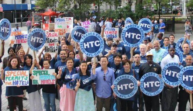 A Hotel Trades Council rally.
