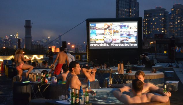 Hot Tub Cinema's first event in America in, you guessed it, Brooklyn.